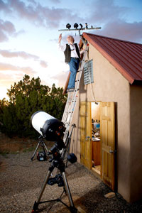 Thomas Ashcraft at his observatory in New Mexico. Image Credit: Gabriella Marks for The New York Times